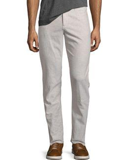 Chambray Linen-blend Pants