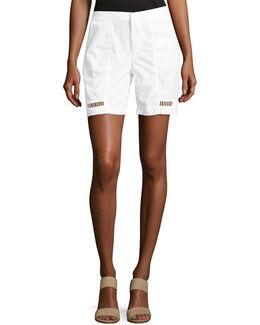 Kyra Stretch-poplin Shorts