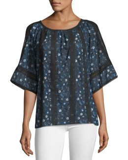 Cambria Lace-inset Blouse