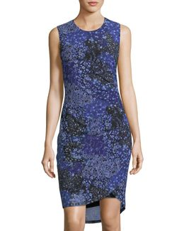 Floral-print Side-ruched Dress