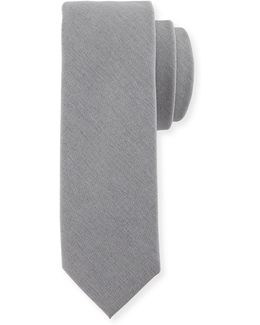 Village Solid Cotton-blend Tie