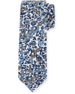 Pastry Floral-print Tie
