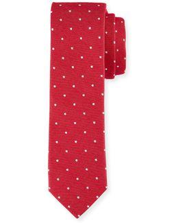 Banville Dot-print Cotton Tie