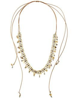 Beaded Pull-tie Necklace