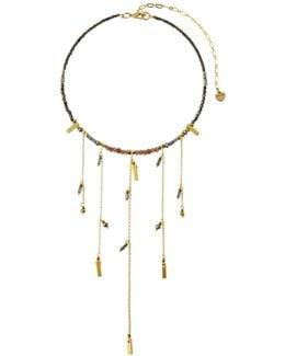 Beaded Fringe Choker Necklace