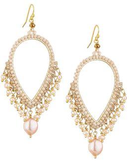 Pearly Dangle Earrings