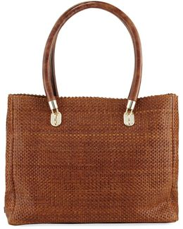 Benson Woven Leather Tote Bag