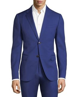 Solid Monaco Wool Two-piece Suit