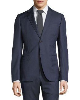 Monaco Herringbone Wool Two-piece Suit
