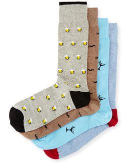 4-pair Martini Socks Gift Box