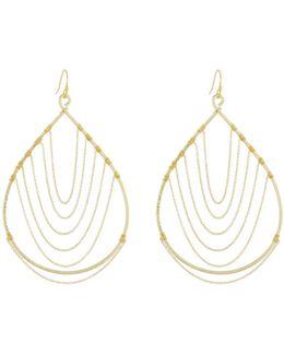 Chain-trimmed Teardrop Earrings