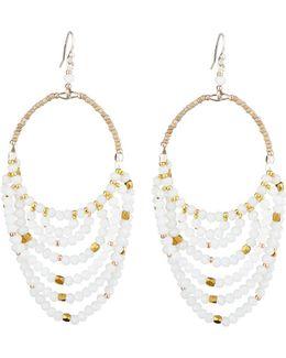 Layered Beaded Drop Earrings