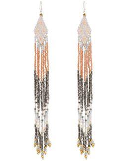 Long Beaded Dangle Earrings