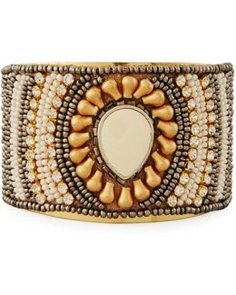 Beaded Statement Cuff Bracelet