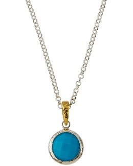 Galapagos Round Turquoise Pendant Necklace