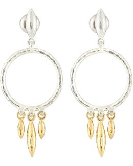 Wheat Hoop Drop Earrings