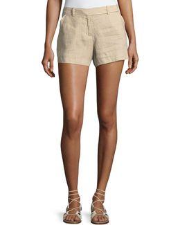 Medium-weight Linen Shorts