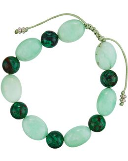 Malachite & Chrysoprase Beaded Bracelet