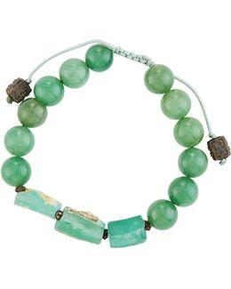 Glass & Aventurine Beaded Bracelet