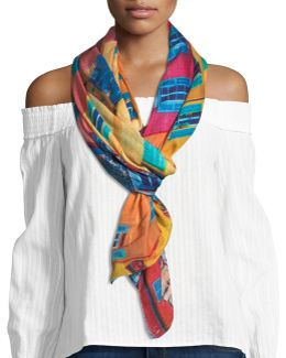 Colors Of Menton Wrap Scarf