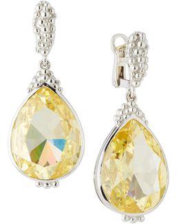 Bermuda Pear-cut Canary Crystal Drop Earrings