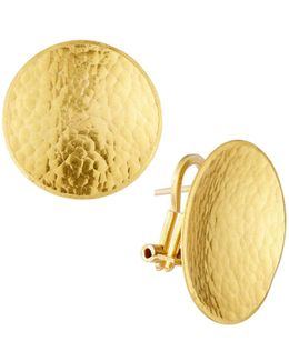 Hourglass 24k Medium Disc Earrings
