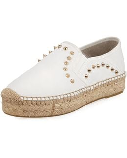 Xiao Spiked Leather Espadrille