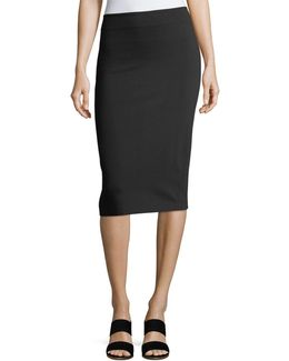 Ponté Pull-on Midi Pencil Skirt