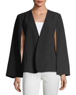 Kiss-front Crepe Cape