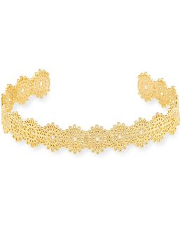 Golden Floral Lace Cuff