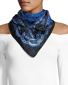 Abstract Watercolor Foulard Scarf