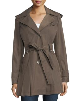 Scarpa Single-breasted Belted Trenchcoat