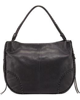 Isla Stitched Leather Hobo Bag