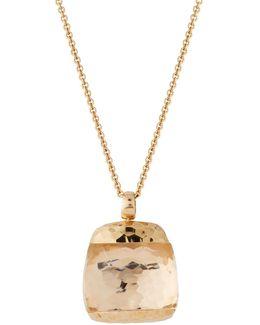 Martellato 18k Rose Gold Rock Crystal Pendant Necklace