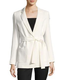 Belted Crepe Jacket