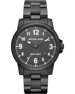43mm Paxton Men's Oversized Stainless Steel Watch