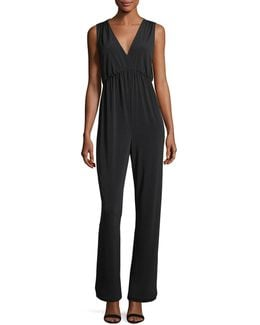 Empire-waist Crepe Jumpsuit
