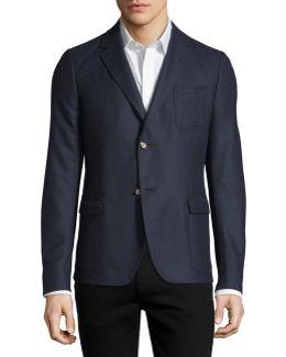 Soft Brushed Cashmere Sport Coat