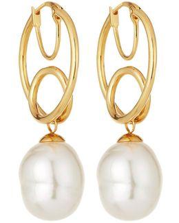 Baroque Twisted Hoop Earrings