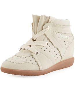 The Bobby Suede Wedge Sneaker