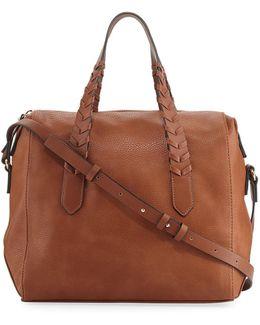 Emory Whipstitch Satchel Bag