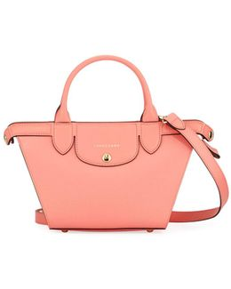 Trapeze Mini Saffiano Top Handle Bag
