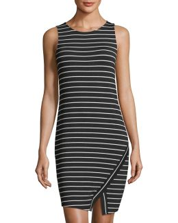 Sleeveless Striped Jersey Dress