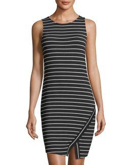 Sleeveless Striped Jersey Dress