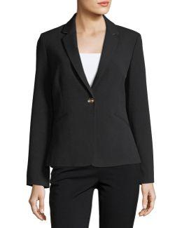 Bi-stretch One-button Jacket