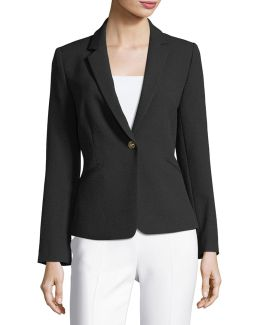 Crepe One-button Jacket