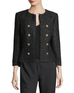 Boucle Button-front Jacket