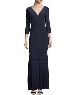 Banded Tier Jersey Gown