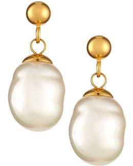18k Gold Vermeil Baroque Pearly Earrings