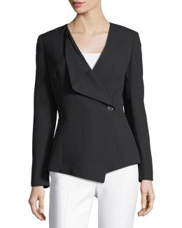 Drape-front Crepe Jacket